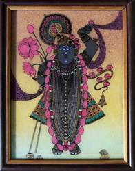 Shri Nath Ji Gem Stone Double Frame Painting