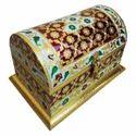 Wooden Metal Meenakari Work Box