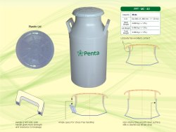 Grey Plastic Milk Can, Capacity: 40 Litres