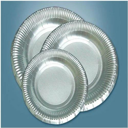 3 Inch Silver Foil Paper Plate At Rs 10 Packet Chandi Ki Panni