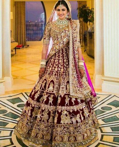 58d8fc1172 Gota Work Semi-Stitched Wedding Lehenga, Rs 40000 /piece, Rangleela ...