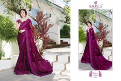 Kalista Rock N Roll Fancy Embroidered Machine Work Sarees