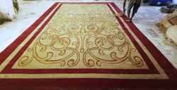Red & Golden Wall To Wall Carpet