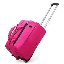 NS Bags Pink Trolley Luggage Bag