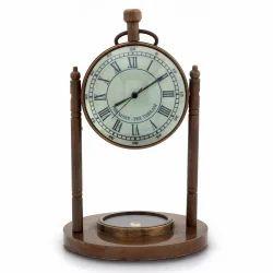 Antique Clock N Compass Handicraft 105