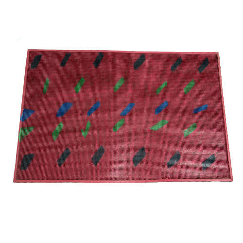 Maroon Waterproof Rubber Door Mat Size 15 Inch X 24