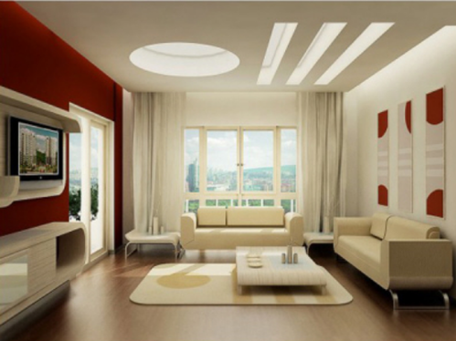 False Ceiling Designs For Modern Living Room Wall Colors