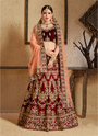 Thread Embroidery Work Designer Lehenga Choli