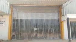 Transparent Tint Blue PVC Strip Curtain