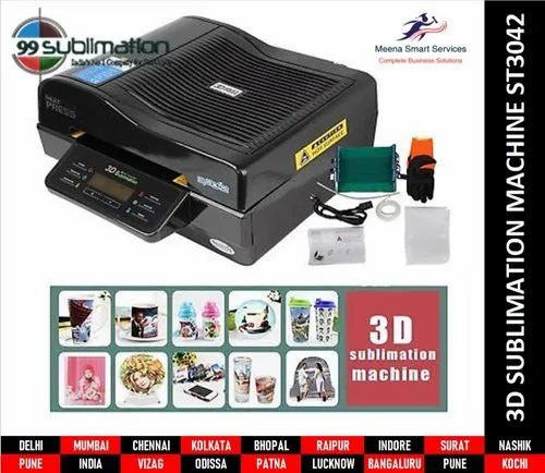 3D SUBLIMATION MOBILE COVERS & TOOLS - 5 in 1 Combo Machine for