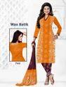 Yellow Batik Salwar Suit