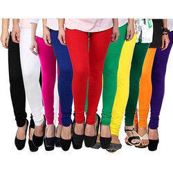 Plain Ladies Colored Leggings, Size: Medium, Large, XL, Free Size