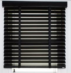 Black Window Blinds
