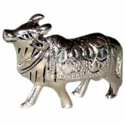 White Metal Cow