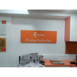 Orange Office Room Sign Boards