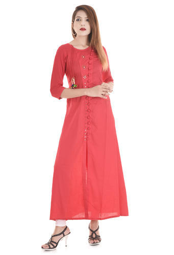 376ec3fe9f Ladies Cotton Stretchable Designer Red Party Wear Kurtis, Rs 725 ...