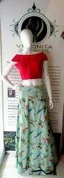 Green Veronica Crop Top Skirt