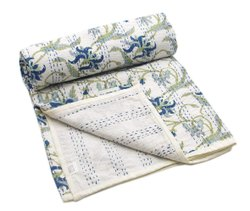 Cotton Export Quality Hand Block Single Bed Razai