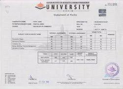 University Mark Sheet Printing Service