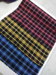 Plain Indigo checks fabric, Use: Garments