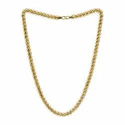 V.S Jewells Male Hollow Gold Chain, Packaging Type: Box