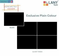 250x400mm Plain Black Digital Wall Tiles