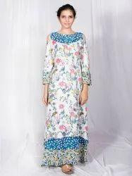 Cold Shoulder Rayon Dress