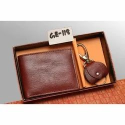 Leather Wallet With Key Chain