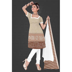 Light Brown Bandhani Suit