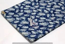 Indigo Blue Sanganeri Dabu Handmade Cotton Fabric