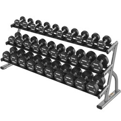 Life Fitness Optima Series Three Tier Long Saddle Dumbbell Rack