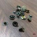 12mm Brass Spring Snap Button Antique