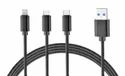 Ambrane Electric Trio-11 3 In 1 Cable, For Mobile Phone