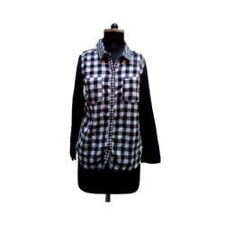 Black and White Ladies Shirt