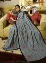 Fancy Silk Reception Wear Sequins Work Saree
