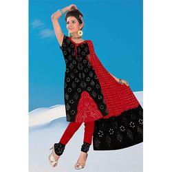 Black Designer Bandhej Suit