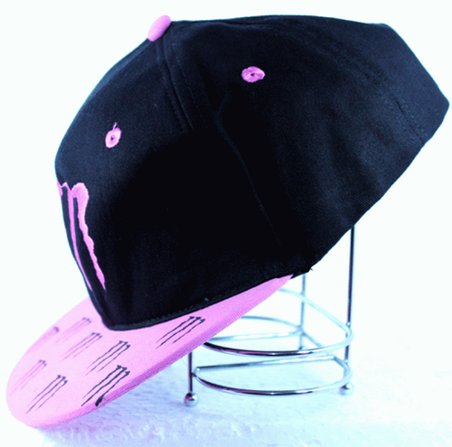 73ffe0d4e284e Boys Black And Pink Monster Energy Cap M Claw Fitted Hat