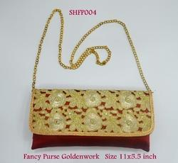 Fancy Purse Golden Work