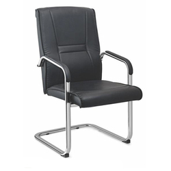 SPS-253 Medium Back Workstation Black Leather Chair