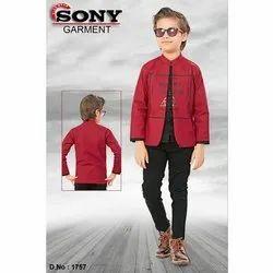 Casual Wear Kids Red Jacket, Size: 4 - 10