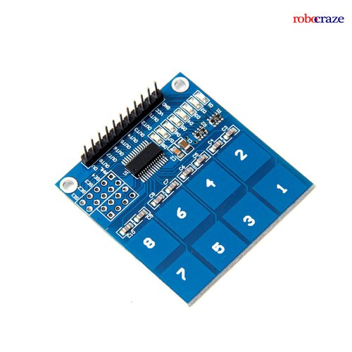 Robocraze LC TTP226 8 Channel Capacitive Touch Pad Sensor Sensing Detector Module