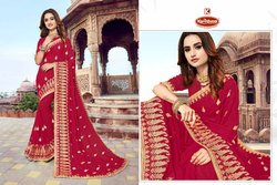 Dyed Embroidery work  Saree - Aarti