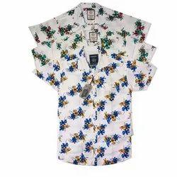 Printed Half Sleeves Men Fashion Cotton Shirt, Machine Wash,Hand Wash