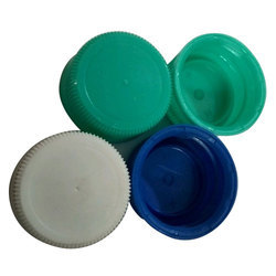 White And Turquoise Round Plastic Bottle Caps