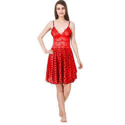 6779a21786 Red Satin And Net Baby Doll Lingerie