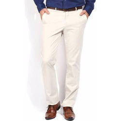 Mens White Formal Trousers