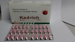 Calcium Citrate and Vitamin D3 Chewable Tablets