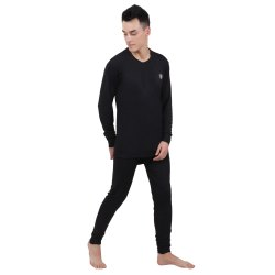 Mens Black Thermal Wear