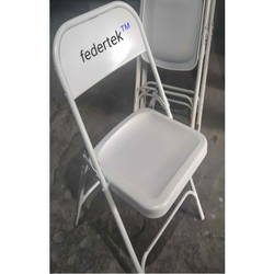 Foldable Red & Grey Iron Folding Chair