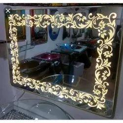 Glass Rectangular Designer Mirror